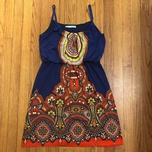 Multi Colored knee length Dress